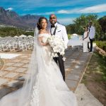 Photos: Adesuwa and Banky W's white wedding in Cape town