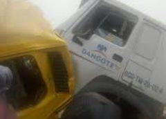 Dangote truck crushes commuters' bus, 7 persons dead